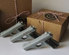 Gun Soap Target Practice Mini Pistol Box Set of by KcSoapsNmore