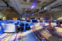 OTS mixed soft lounge seating with standard highboys and cabaret tables for this Las Vegas corporate reception! Las Vegas Events, Event Management Company, Lounge Seating, Cabaret, Reception, Tables, Glow, Chicago, Scene