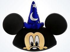 Disney Parks Character Ears Sorcerer Mickey Mouse Ear Hat One Size New