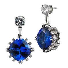 A-List quality sapphire and diamond drop earrings. By Alexandra Mor. Via RingOBlog.com. #Earrings