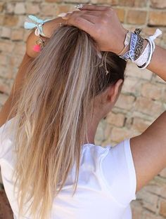 Ponytail with a nice armparty from www.loveibiza.nl