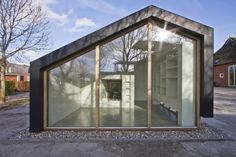 Multifunctional Barn - Onix - The Netherland - Small House - Exterior - Humble Homes Bungalow, Wood Architecture, Museum Architecture, Residential Architecture, Home On The Range, Patio Roof, Coastal Homes, Building Design, Malaga