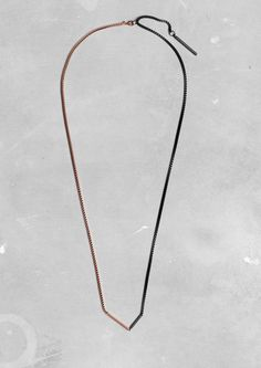 shiny copper/matte black necklace | & Other Stories