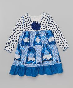 Look at this Blue Cat Ruffle Babydoll Dress - Toddler & Girls on #zulily today!