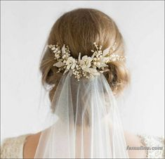 150 best ideas for wedding hair accessories 2017 with veil (74)