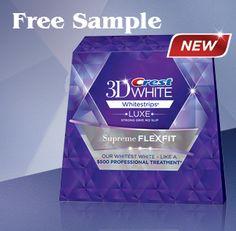 FREE Crest 3D White Strips Sample!!