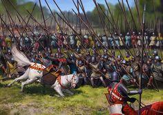 Battle of Bannockburn, June La Pintura y la Guerra.