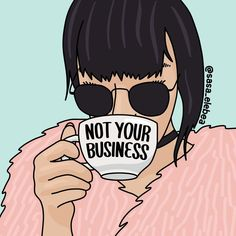 """""""Not your business from Sasa Elebea"""" Photographic print by Sabrina Brugmann – girl power tattoo Girl Power Tattoo, Power Girl, Babe Quotes, Girl Quotes, Quotes Motivation, Hustle Quotes, Gurbani Quotes, Sport Quotes, Empowerment Quotes"""