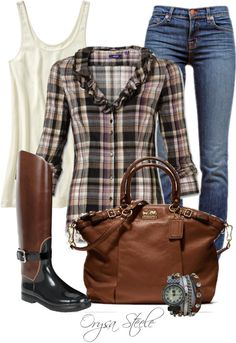 """""""Pretty in Plaid"""" by orysa on Polyvore"""