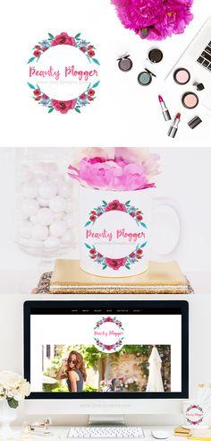 www.One-Giraphe.com #logodesign #graphic #graphicdesign #readymade #logostore #watercolor #watercolorlogo #etsy #pinterest #instagram #behance #dribbble #logopond #affordable #cheap #etsy #seller #logo #feminine #pink #onegiraphe Logo For Sale! onegiraphe@gmail.com #blog #blogger #flower #flowers #beauty #beautyblogger