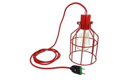 Lampa z klatką czerwoną A | sklep z lampami bylight.pl