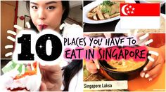 Trying 10 Places You Have to Eat in Singapore! - WATCH VIDEO HERE -> http://singaporeonlinetop.info/food/trying-10-places-you-have-to-eat-in-singapore/    Notes: – Nasi Padang is noted to be Indonesian! Apologies Places Listed: 1. Chin Mee Chin Confectionary 2. 328 Katong Laksa 3. Meera's Banana Leaf  4. Maxwell Food Centre – Tong Fong Fatt Chicken Rice stall 5. Mad About Sucre 6. Chye Seng Huat Hardware 7. Geylang Serai Market...