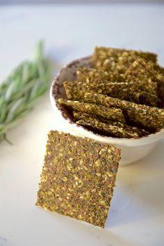 Kale Super Seed Crackers - gluten free and vegan crackers | TastingPage.com
