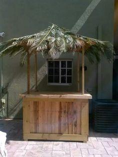 Bar made of pallets