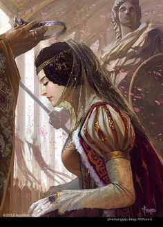 Althea was made Sky Empress at the young age of 25 after the murder of her father the Emperor. With the guidance of her advisor and husband, Heston, she is determined to be a strong ruler.