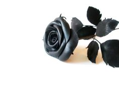 Leather Rose Black Flower Long StemGift by LeatherAndRoses on Etsy, $43.00