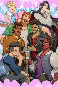 It's out!! I had a blast working on character art for this amazing game.  Hope everydaddy's finding the dad of their dreams in [DREAM DADDY]