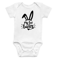 Produkte Archiv - Herzpost My First Easter, Baby Party, Baby Bodysuit, The 100, Bunny, Bodysuits, Easter Eggs, Searching, Cotton