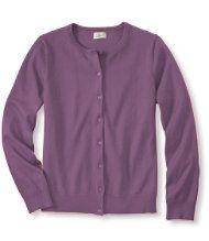 Fine-Gauge Sweater, Button-Front Cardigan
