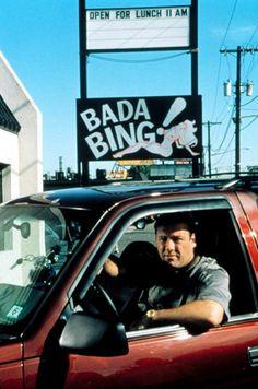 Tony Soprano in front of the Bada Bing ! Old Tv Shows, Best Tv Shows, Best Shows Ever, Favorite Tv Shows, Favorite Things, Series Movies, Tv Series, Les Sopranos, Bada Bing