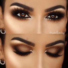 5 Ways To Make Brown Eyes Pop - Brown eyes are totally stunning. These 5 unique makeup tricks using purple and blue eyeliners will make your brown eyes stand out. makeup augen hochzeit ideas tips makeup Almond Eye Makeup, Almond Eyes, Natural Eye Makeup, Eye Makeup Tips, Makeup Hacks, Eyeshadow Makeup, Makeup Inspo, Makeup Ideas, Eyeshadow Ideas
