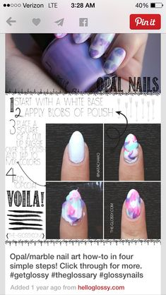 How Do I Do Marble Nail Art Without Water? #Various #Trusper #Tip