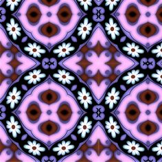 flower power purple fabric by nascustomwallpapers on Spoonflower - custom fabric