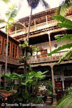 La Casa de Los Balcones and its nice courtyard in La Orotava