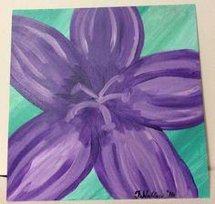 Purple Flower by PaintingsbyTeri on Etsy https://www.etsy.com/listing/398106837/purple-flower