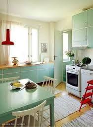 Shop The Look: White Room Decor Edition 50s Kitchen, Vintage Kitchen, Residential Interior Design, Home Interior Design, White Room Decor, Small Cottage Kitchen, Retro Home, Modern Kitchen Design, Kitchen Interior
