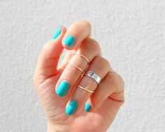 Silver Knuckle Ring Set of 4 Above the Knuckle Rings by TinyBox12