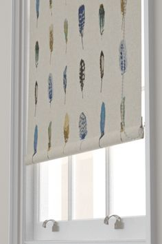 Duck Egg Beautiful Birds Blackout Roller Blind Dunelm