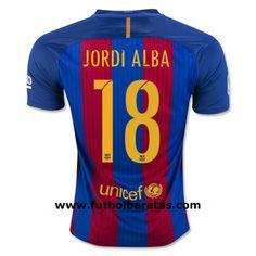 Jordi Alba of Barcelona 2018 Home Team Jersey
