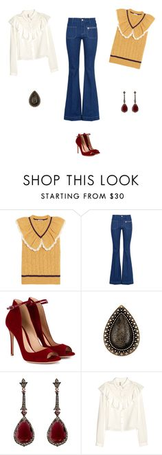 """""""Ruffle 1970s style"""" by maryellenlyons ❤ liked on Polyvore featuring Miu Miu, STELLA McCARTNEY, Gianvito Rossi and Annoushka"""