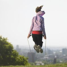 Jumping rope is one of the best ways to work out: not only does it burn 330 calories in just 30 minutes, but it also helps strengthen your bones and muscles, while you increase your endurance and heart rate.  But there's lots to do with a jump rope
