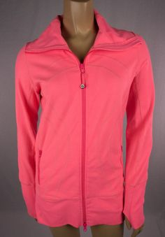 Sold wrong color for me yardsale today found one similar to this but has a grey n white striped collar $40 great condition i finally own a lululemon jacket :) unless i decide to sell it on ebay lol....LULULEMON In Stride Jacket Sz 6 Rare Neon Coral