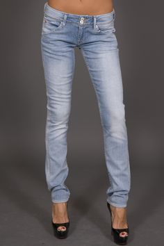 Hudson jeans. Love the vintage wash and straight leg.