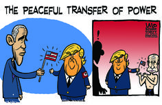 <p>This Friday we will witness the peaceful transfer of power. Here's a preview. Good luck to us all.</p>