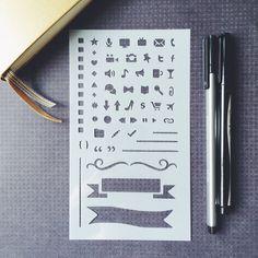 Pro Bullet Stencil for Bullet Journal Filofax by MooAndTheBoo