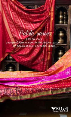 Where to shop for patola in Jaipur Indian Attire, Indian Wear, Indian Dresses, Indian Outfits, Saree Collection, Bridal Collection, Desi Wear, India Colors, Soft Silk Sarees