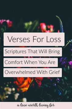 15 Verses For Loss: Scriptures to Comfort the Grief Stricken — A Love Worth Living For Thanksgiving Bible Verses, Proverbs 20, Shattered Heart, Bible Verses About Strength, Identity In Christ, Writing Challenge, Social Anxiety, Gods Love, Psalms