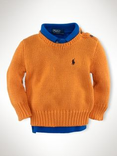 Preppy tangerine sweater