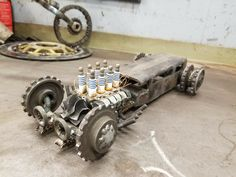 Rat rod made from discarded parts Scrap Metal Art, Welding Projects, Blacksmithing, Rats, Monster Trucks, Arts And Crafts, Ford, Craft Art, Activity Toys