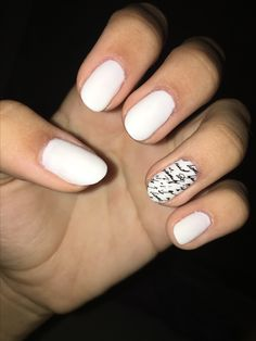 White nails with writing