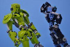 "clockwork-tempest: ""Bionicle MOC - Origin "" that green nuva armor tho"