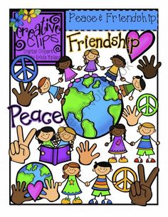 Peace and Friendship {Creative Clips Digital Clipart} product from Creative-Clips-Clipart on TeachersNotebook.com