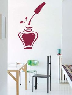 Housewares Vinyl Decal Bottle Of Nail Polish For Beauty Salon Manicure Home Wall Art Decor Removable Stylish Sticker Mural Unique Design for Any Room Decal House http://www.amazon.com/dp/B00FRD1G44/ref=cm_sw_r_pi_dp_IyPUtb1QKXRTY883