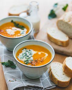 Zoete aardappelsoep - Dit zalige romige soepje met zoete aardappel is een schot in de roos!