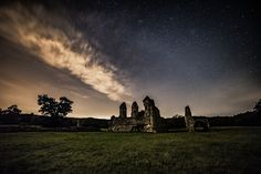 Waverley Abbey at Night, Perseids Feint by Phillip Edwards on 500px