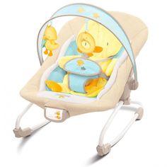 Bright Start Hamaca Vibratoria Rocker Pato. Hamaca muy confortable y con un diseño precioso que invitará a tu #bebé a relajarse y disfrutar de un perfecto #descanso.